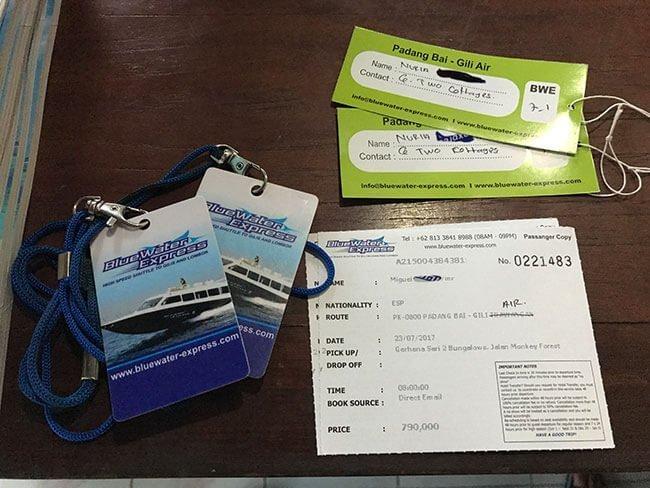 Las entradas están numeradas y el equipaje controlado