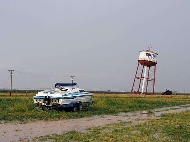 La torre de agua inclinada de Groom en la Ruta 66