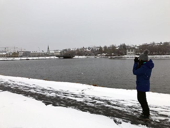 Lago Tjörn en Reikiavik
