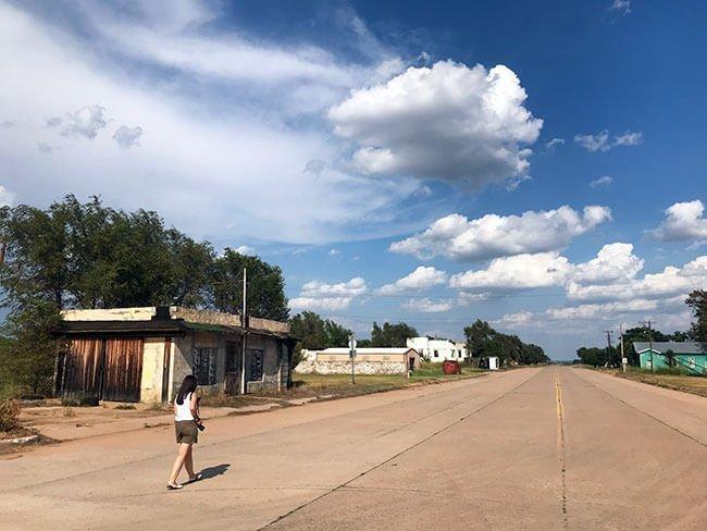 El pueblo fantasma de Texola en la Ruta 66