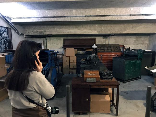 En el Museo de la Insurrección de Varsovia puedes encontrar materiales reales de 1944