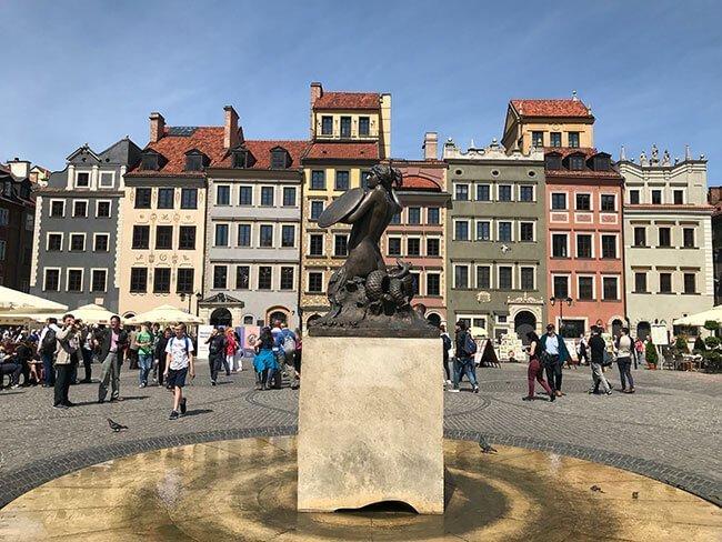 La plaza del Casco Antiguo en Varsovia