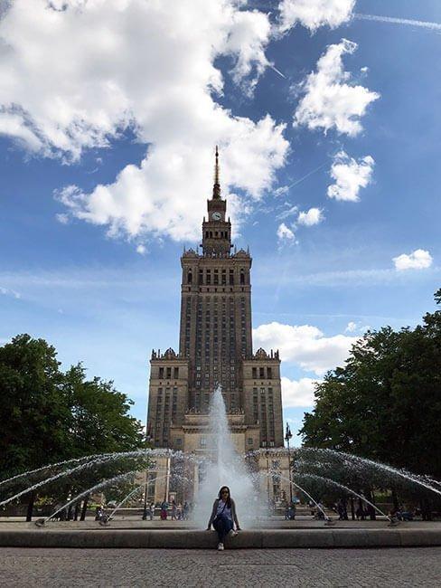Los exteriores del Palacio de la Ciencia y la Cultura en Varsovia