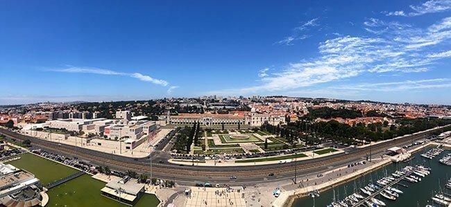 Vistas desde el Monumento a los Descubrimientos