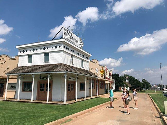El Old Town Museum de la Ruta 66 en Elk City donde aprendimos sobre la vida en Oklahoma