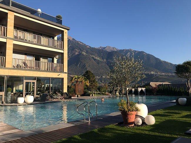 La piscina de nuestro hotel en el Sudtirol