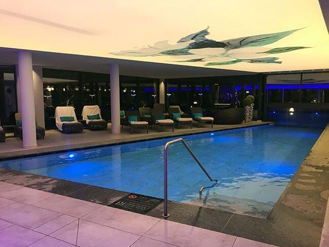 La piscina interior de nuestro hotel en el Sudtirol