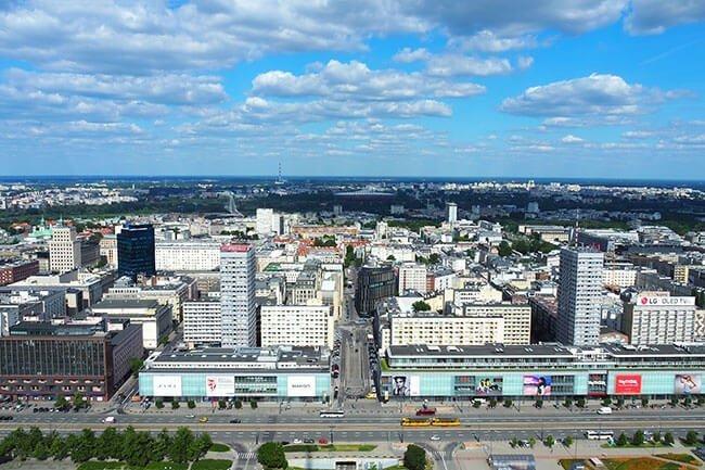 Varsovia desde el mirador del Palacio de la Ciencia y la Cultura