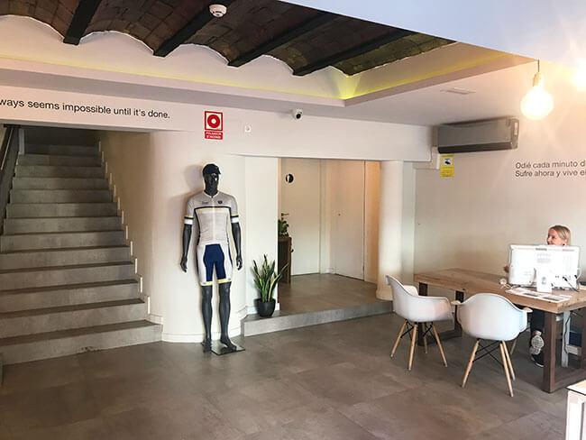 Recepción de nuestro hotel en Caldes d'Estrac