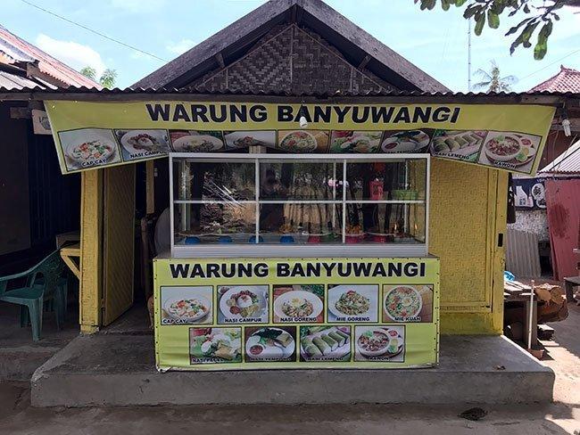 El warung donde comimos en Gili Air