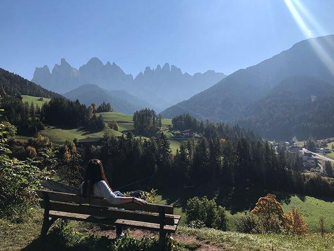 Preciosas vistas de los Dolomitas