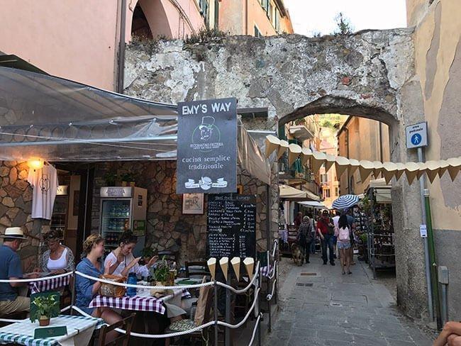 En Monterosso encuentras muchos restaurantes de platos típicos