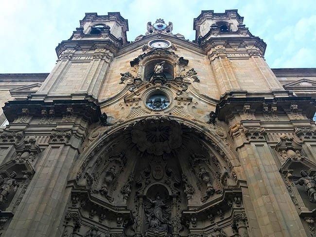 La basílica de Santa María del Coro en San Sebastián