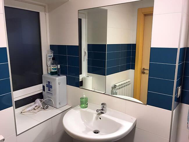 Los baños compartidos en mi alojamiento en San Sebastián