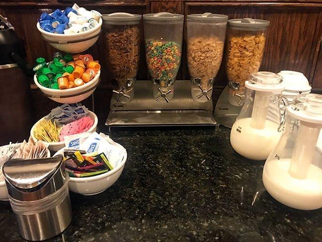 Desayuno en el hotel de Amarillo