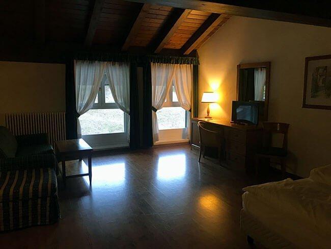 Habitación hotel de Misurina
