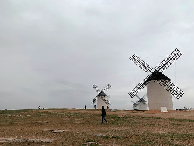 Los gigantes de Don Quijote, los molinos de Campo de Criptana