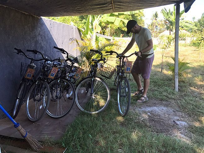 El hotel G Two Cottages en Gili Air dispone de bicicletas para los huéspedes