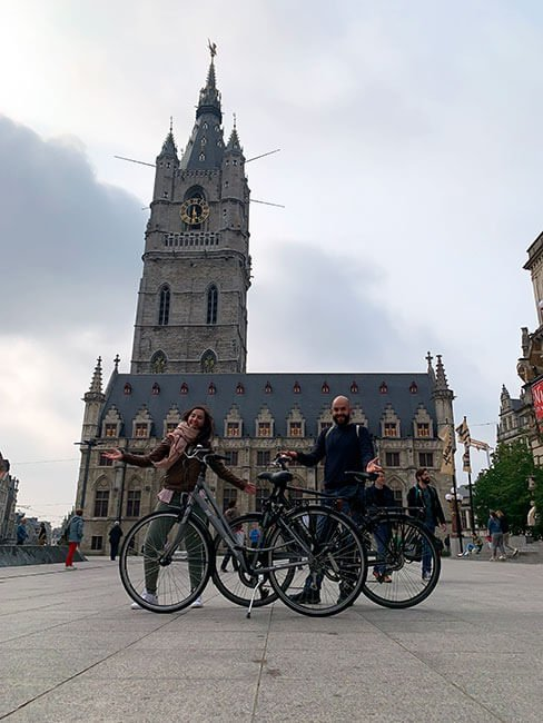 Uno de los mejores medios de transporte en Gante: la bicicleta