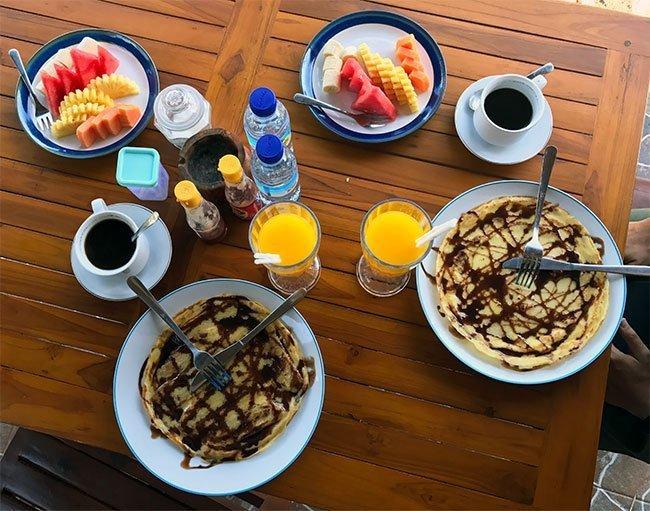 Desayuno típico de las Islas Gili