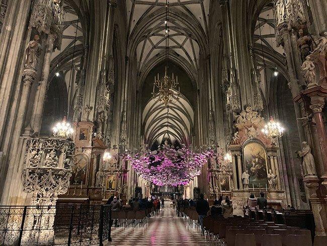 El interior de la catedral de Viena