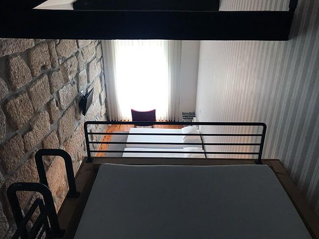 Vistas desde la cama situada en el altillo