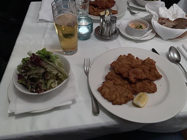 El famoso plato de Viena, el Wiener Schnitzel