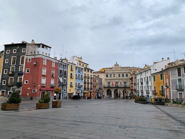 El ayuntamiento en la Plaza Mayor de Cuenca
