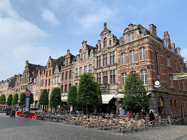 La plaza del mercado de Lovaina
