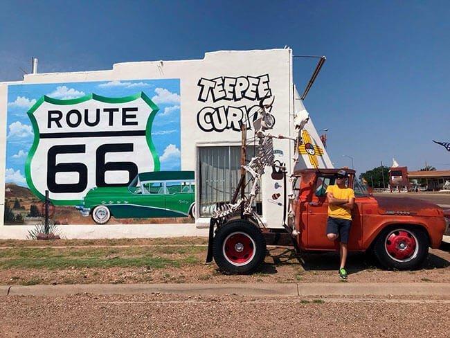 El pueblo de Tucumcari refleja muy bien el paso de la Ruta 66 por la zona, parece que se ha quedado parado en el tiempo