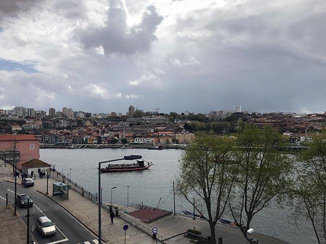 Vistas desde nuestra habitación en Oporto