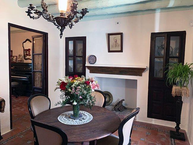 El interior del Museo de la Casa Natal de Federico Garcia Lorca en Fuente Vaqueros