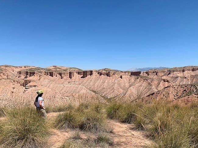 Los paisajes dentro del Desierto de Gorafe son espectaculares
