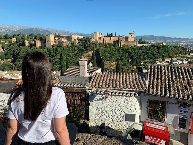 Las vistas de la Alhambra desde el mirador de San Nicolás en Granada