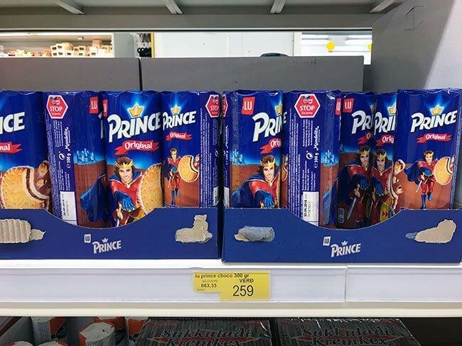 Galletas Principe en Islandia 1,85 euros