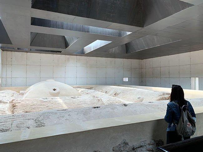 Interior de los baños Árabes de Baza - Granada