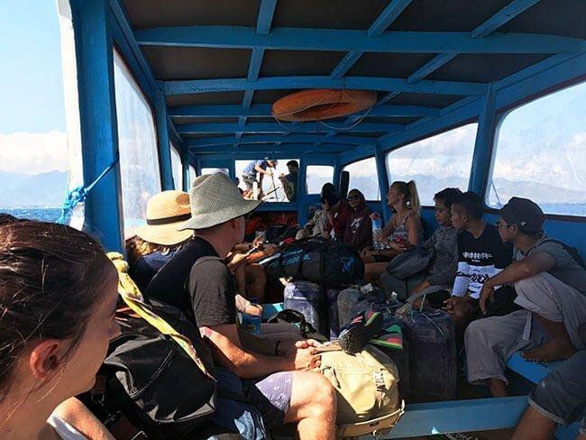Ferri público de Gili a Lombok - Indonesia