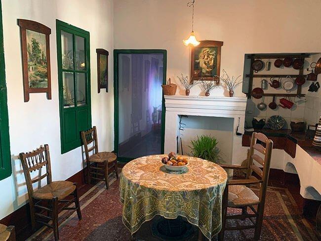 Comedor de la casa de la familia de Federico García Lorca en Valderrubio (Granada)