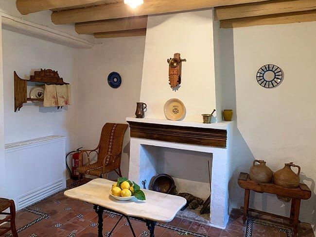 Cocina de la casa de la familia de Federico García Lorca en Fuente Vaqueros (Granada)
