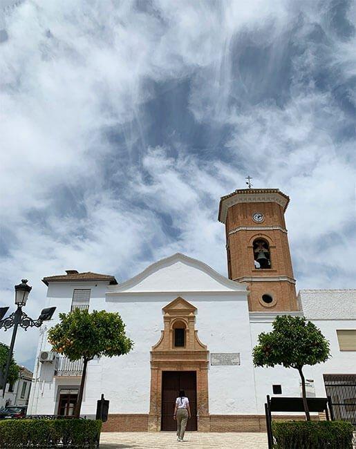 Iglesia de Valderrubio población de Federico Garcia Lorca