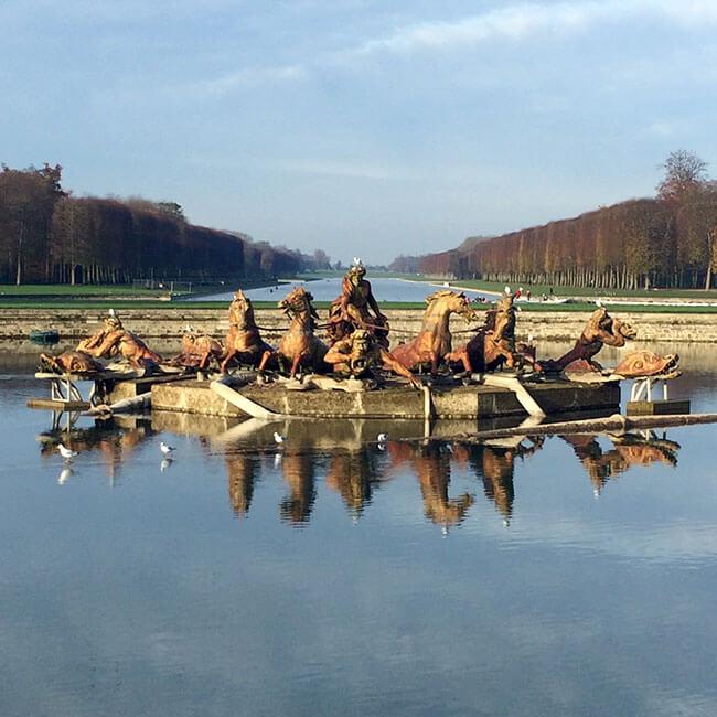 Fuente de los jardines del Palacio de Versalles
