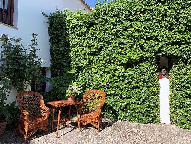 Patio de la casa de Federico García Lorca en Fuente Vaqueros (Granada)