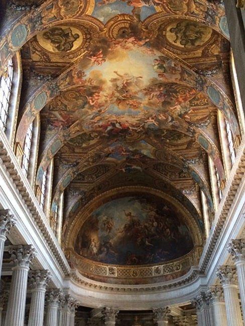 Preciosos techos del Palacio de Versalles