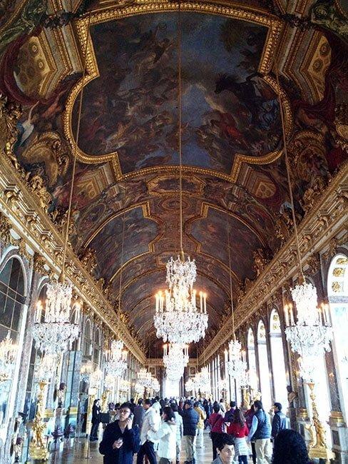 La sala de los espejos del Palacio de Versalles