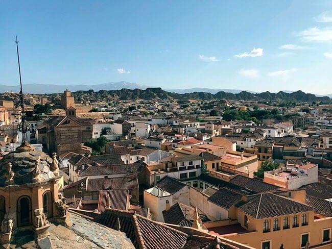 Vistas de Guadix desde el campanario de la catedral