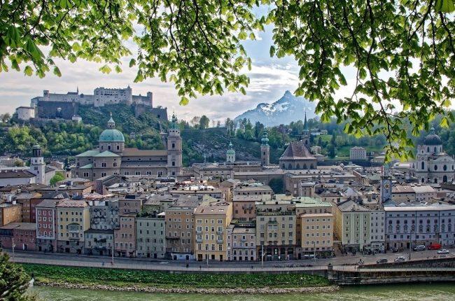 La bonita ciudad de Salzburgo