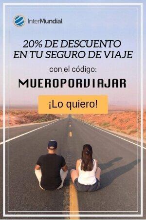 Descuento 20% en seguro de viaje intermundial