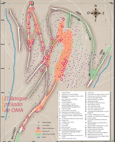 Mapa del Bosque Pintado de Oma