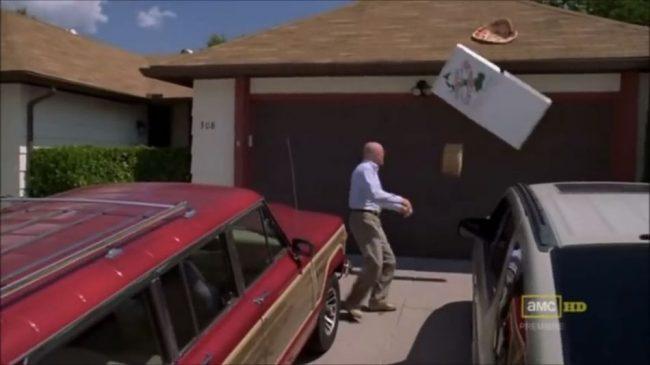 Escena de Breaking Bad en casa de Walter White