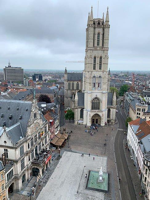 Catedral de Gante desde la Torre Belfort